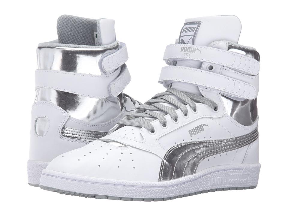 PUMA - Sky II Hi FG Foil (Puma White/Puma Silver) Men's Shoes