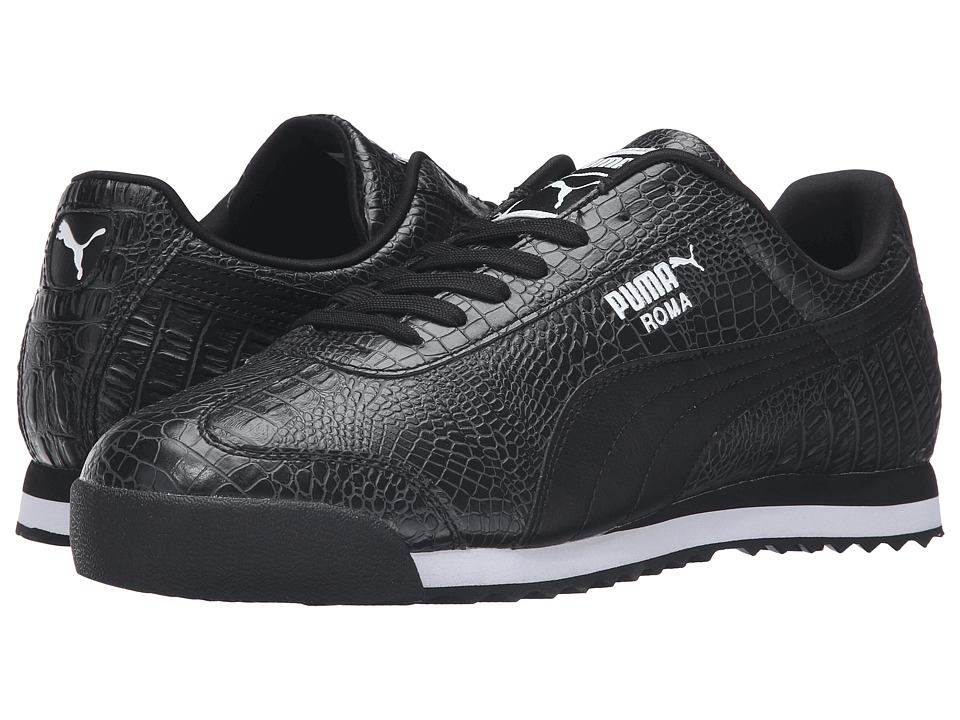 PUMA - Roma Texture (Puma Black/Puma White) Men's Shoes