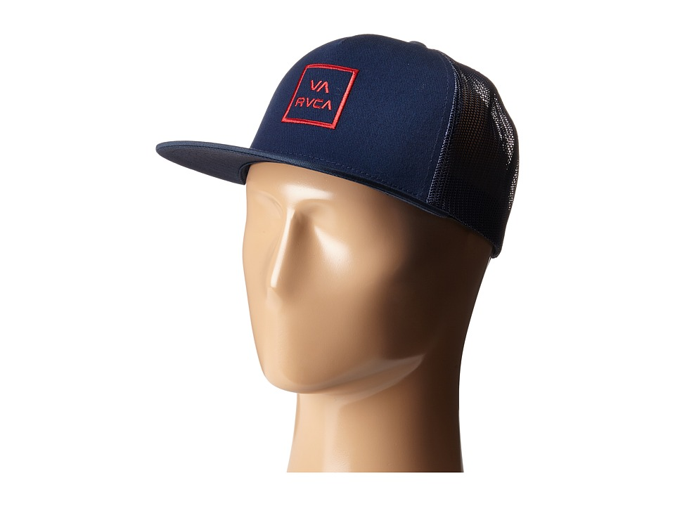 RVCA - VA All The Way Trucker (Navy/Red) Caps