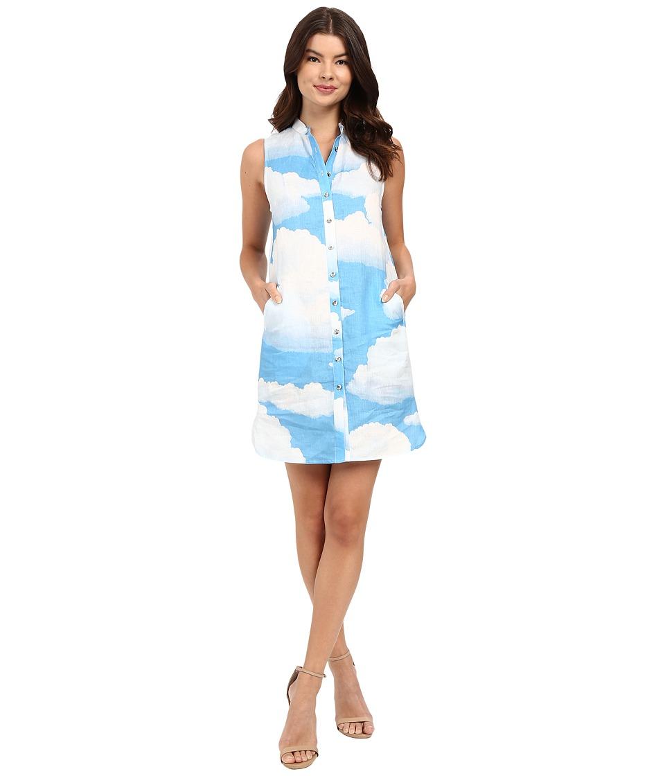 Mara Hoffman - Linen Shirtdress (Sky Blue) Women's Dress