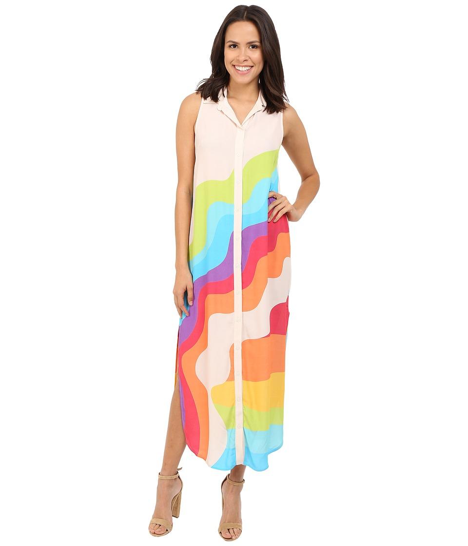 Mara Hoffman Crepe Button Down Dress