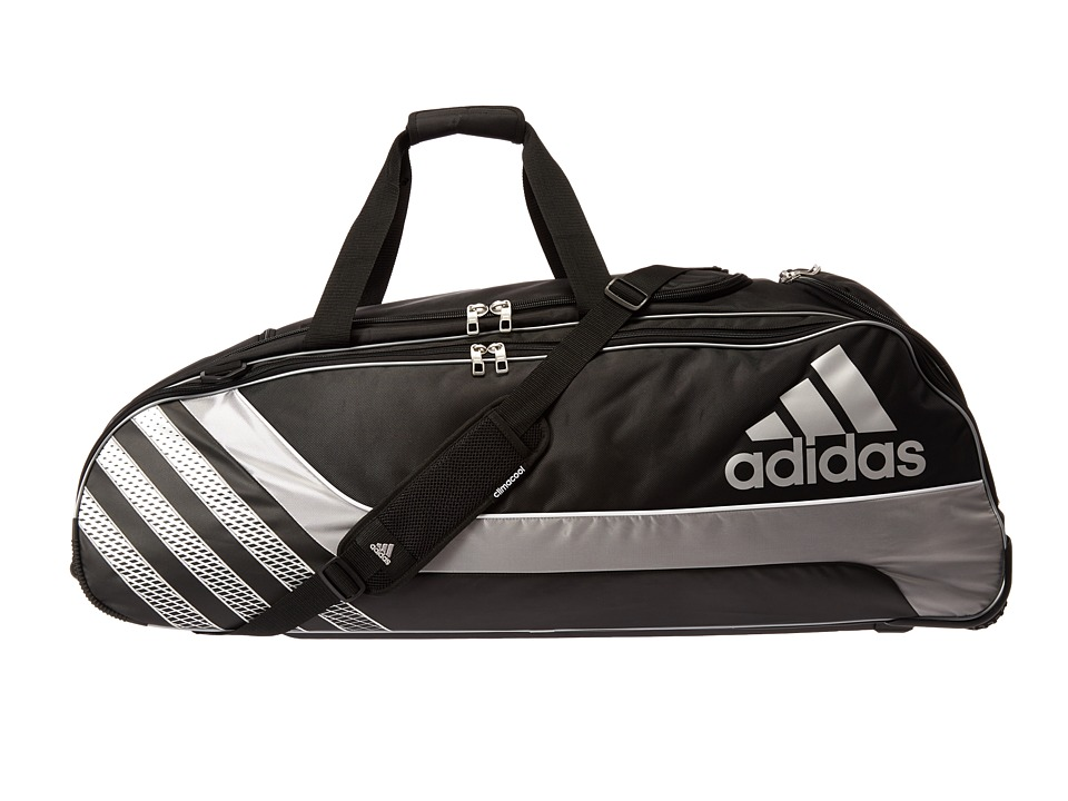 adidas - LoadFlex Wheeled Player Bag (Black) Bags