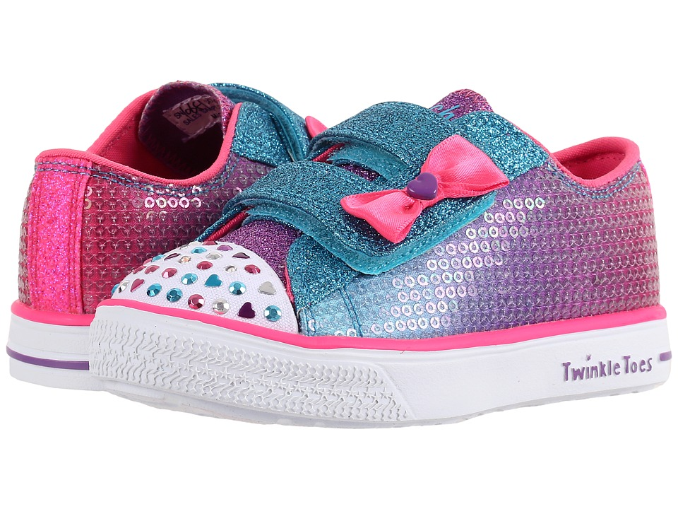 SKECHERS KIDS - Twinkle Breeze 10651N Lights (Toddler/Little Kid) (Multi) Girl's Shoes