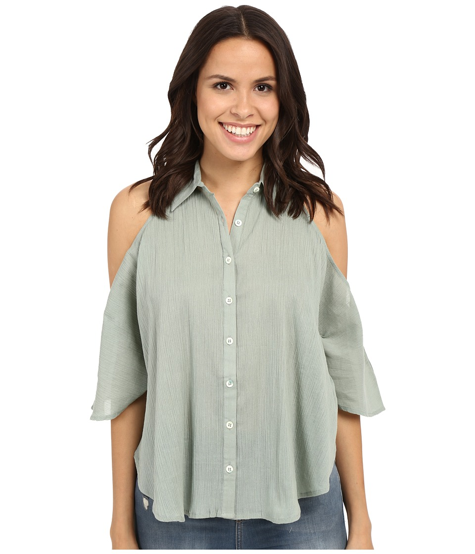 Mara Hoffman - Open Shoulder Top (Sage) Women's Clothing