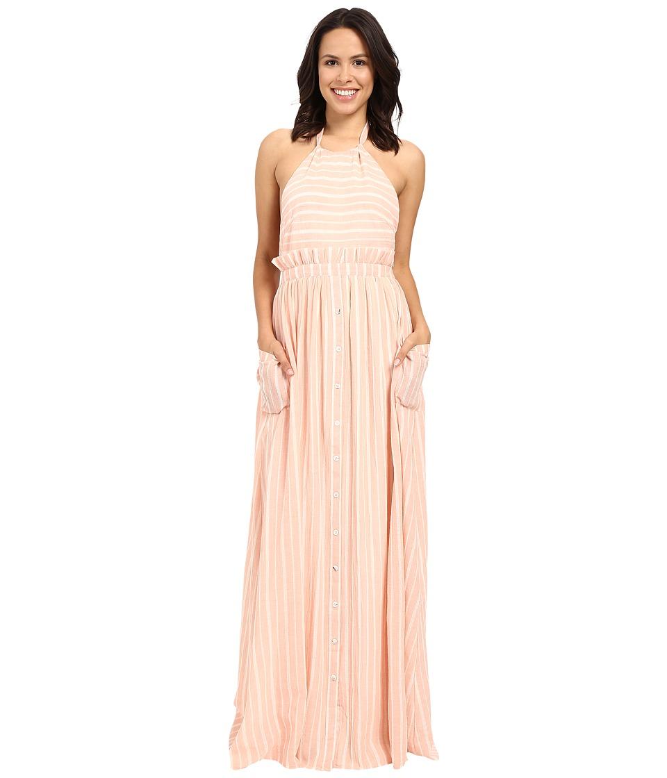 Mara Hoffman - Gauze Halter Dress with Pockets (Pastel Pink) Women's Dress
