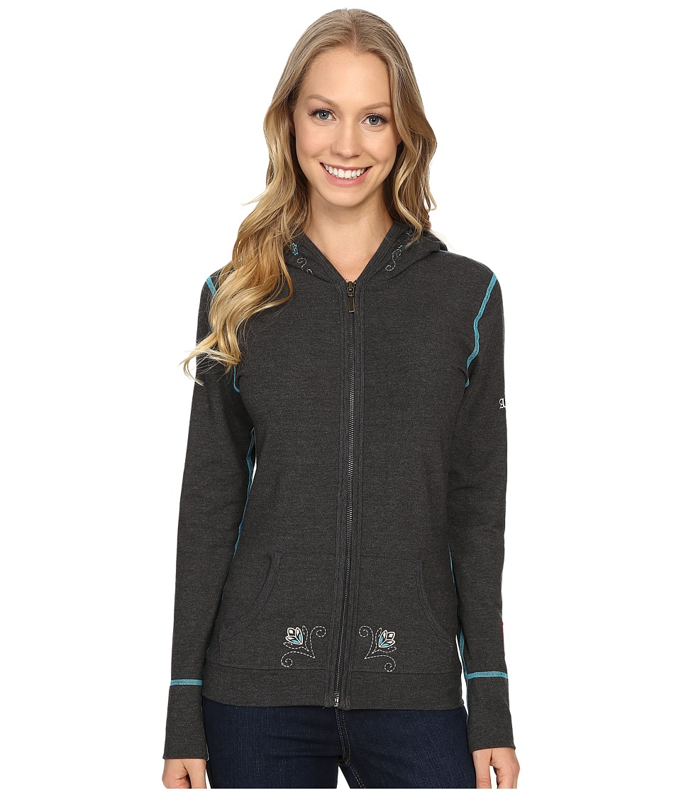 Alp-n-Rock - Summer Bloom Hoodie (Heather Black) Women's Sweatshirt