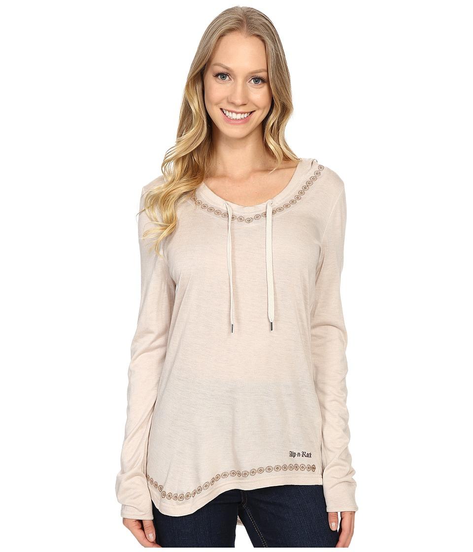 Alp-n-Rock - Eva Hoodie Cowl Neck Hoodie (Heathered Stone) Women's Sweatshirt