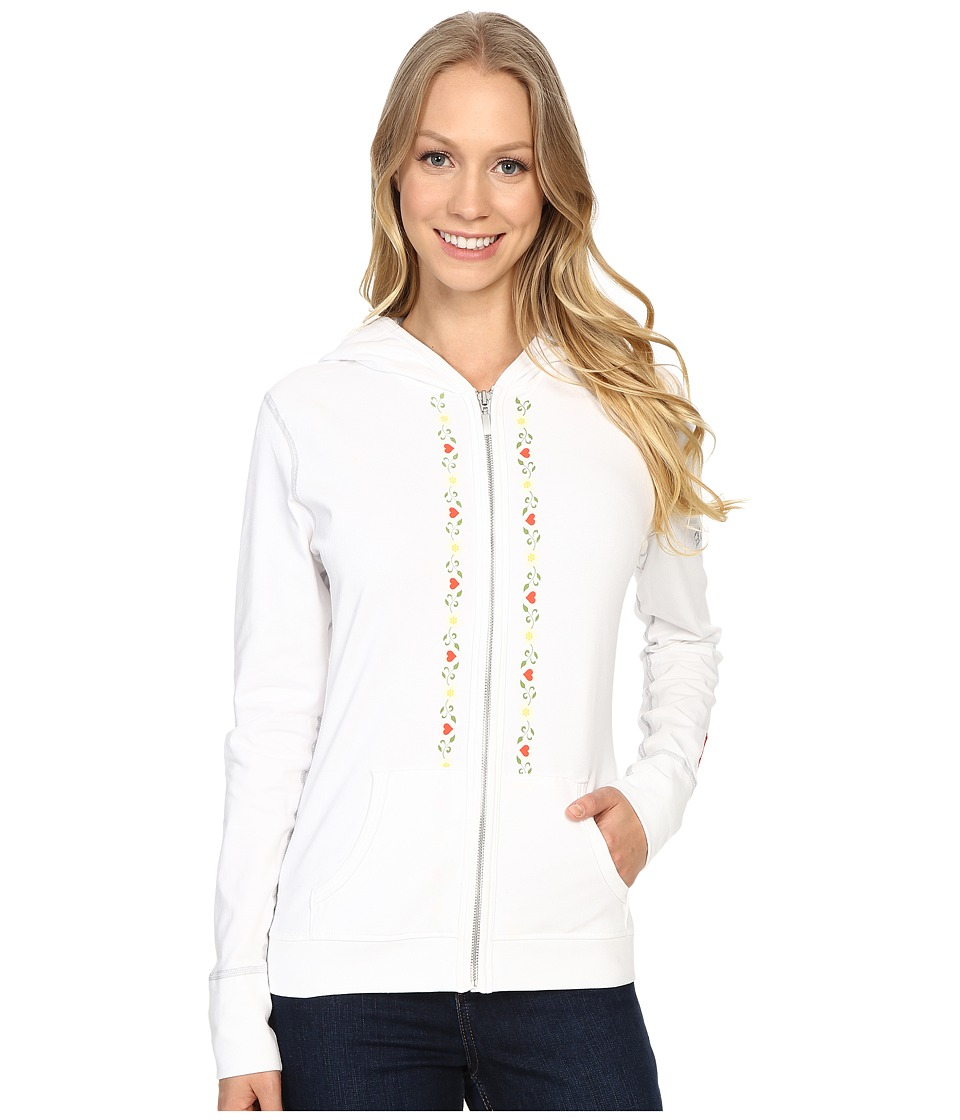 Alp-n-Rock - Alpine Retreat Hoodie (White) Women's Sweatshirt