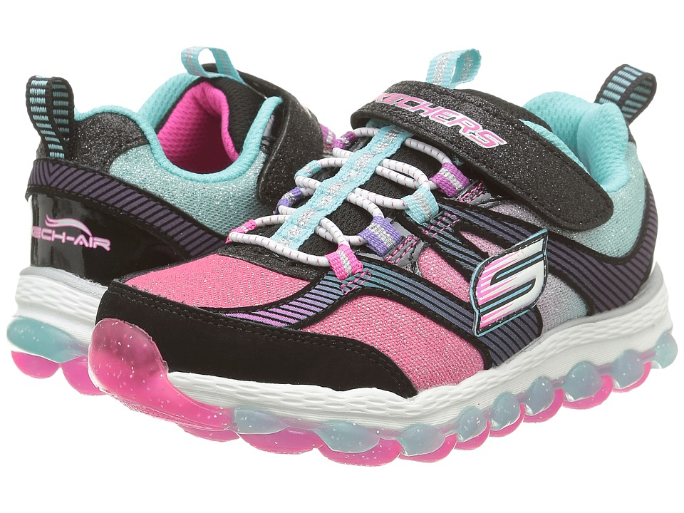 SKECHERS KIDS - Skech Air Ultra 80036L (Little Kid/Big Kid) (Black/Multi) Girl's Shoes