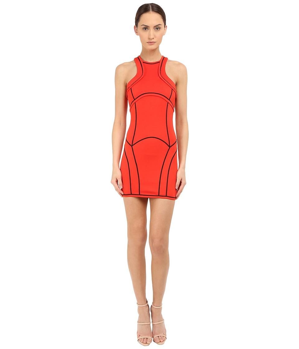 DSQUARED2 - Compact Viscose Jersey Dress (Berry/Red) Women's Dress