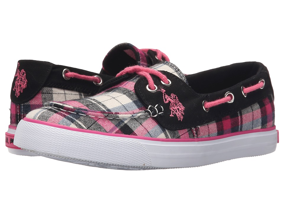 U.S. POLO ASSN. - Mate (Ice/Pink Plaid/Black) Women's Shoes