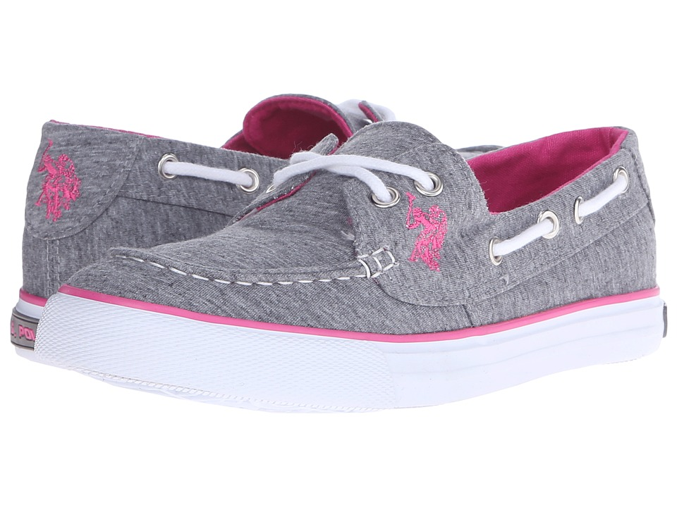 U.S. POLO ASSN. - Mate (Grey Jersey/Hot Pink) Women's Shoes