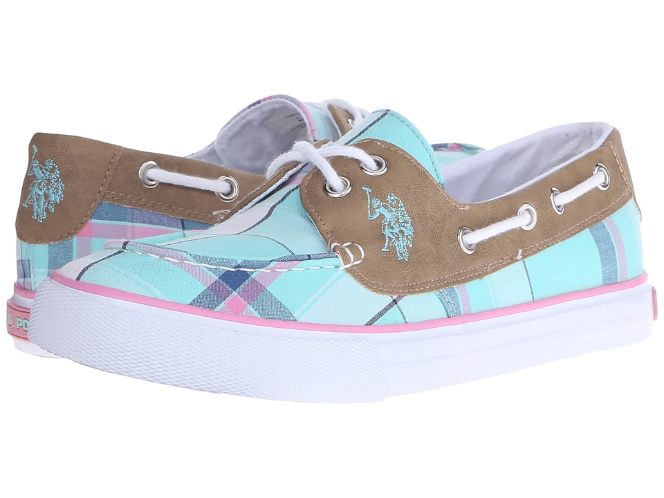 U.S. POLO ASSN. - Mate (Mint Plaid/Tan) Women's Shoes