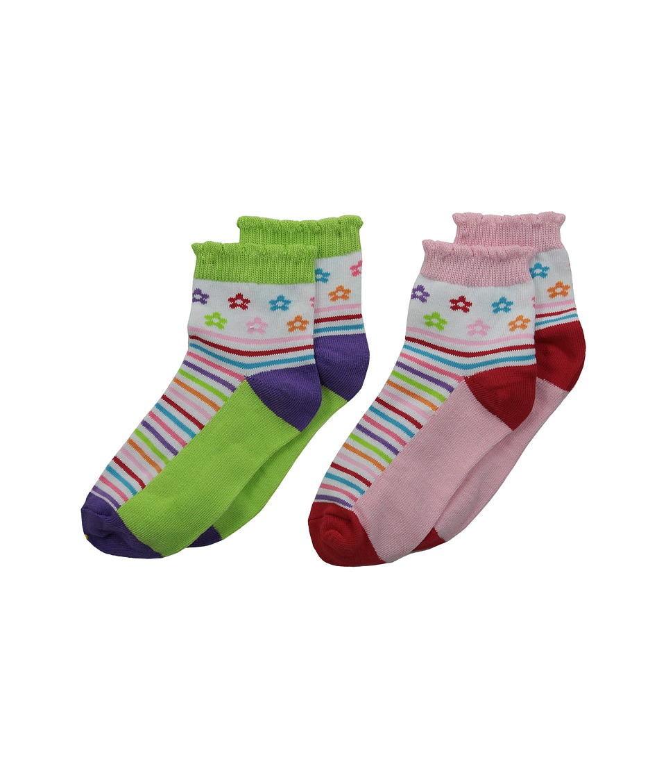Jefferies Socks - Daisy Anklet 2-Pair Pack (Infant/Toddler/Little Kid/Big Kid) (Multi) Girls Shoes