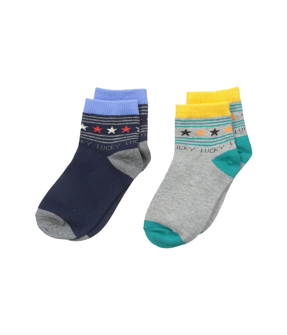 Jefferies Socks - Lucky Star Quarter 2-Pack (Infant/Toddler/Little Kid) (Multi) Boys Shoes