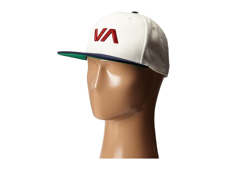 RVCA - VA Snapback II (White/Blue) Caps