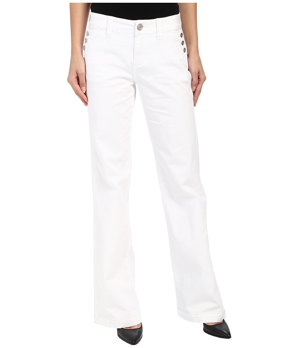 Jag Jeans - Farrah Wide Leg in Bay Twill (White) Women's Jeans