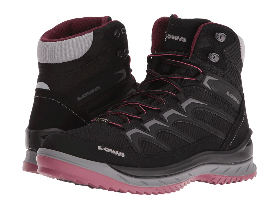 Lowa - Innox Ice GTX Mid (Black/Berry) Women's Boots