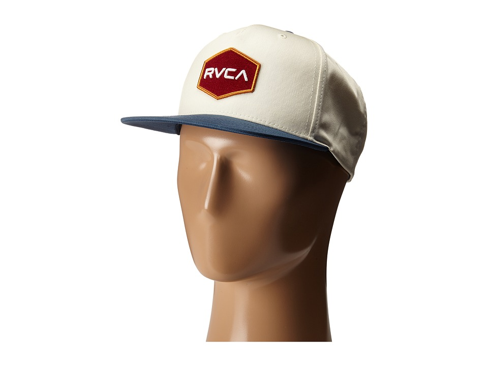 RVCA - Commonwealth Snapback (White/Blue) Baseball Caps