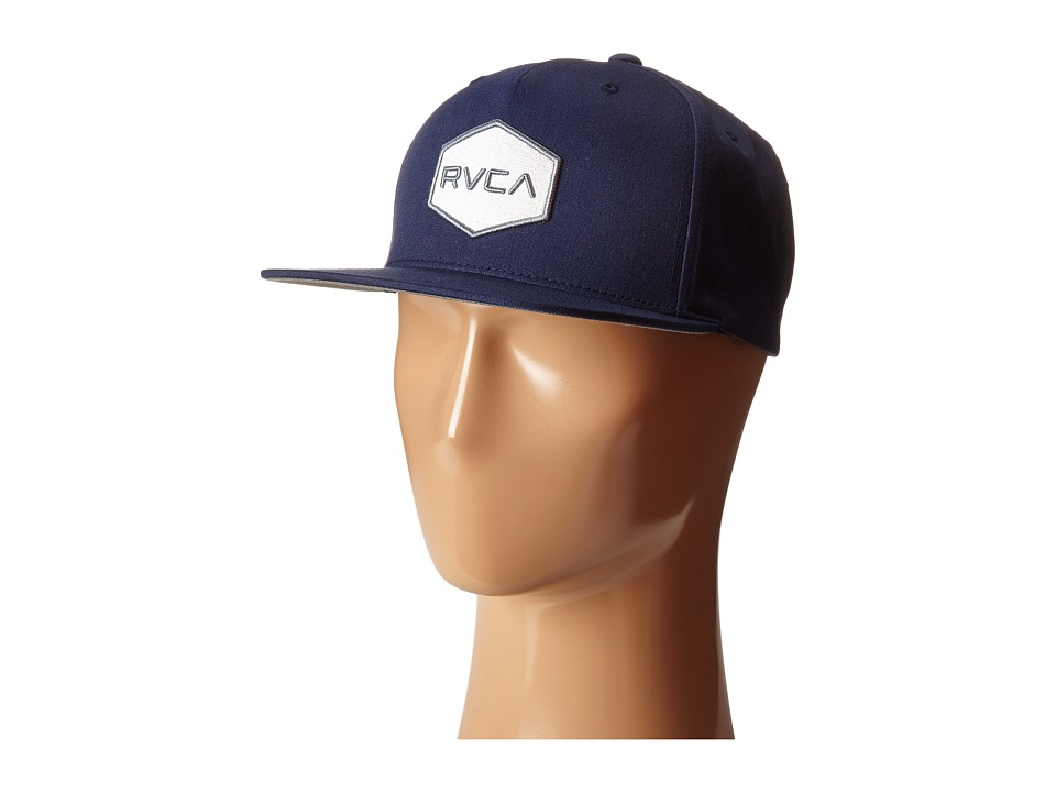 RVCA - Commonwealth Snapback (Navy 1) Baseball Caps