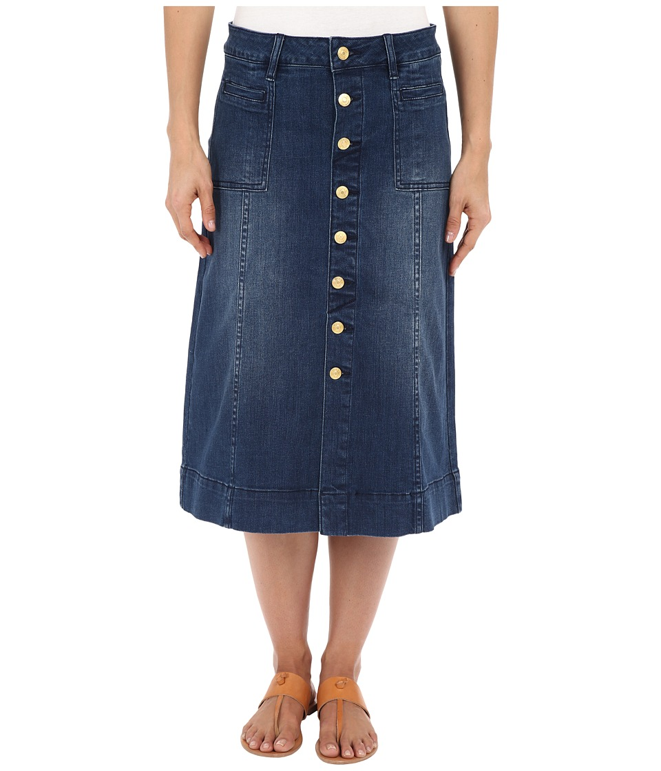 Jag Jeans Barrett Button Front Denim Skirt (Blue Shadow) Women