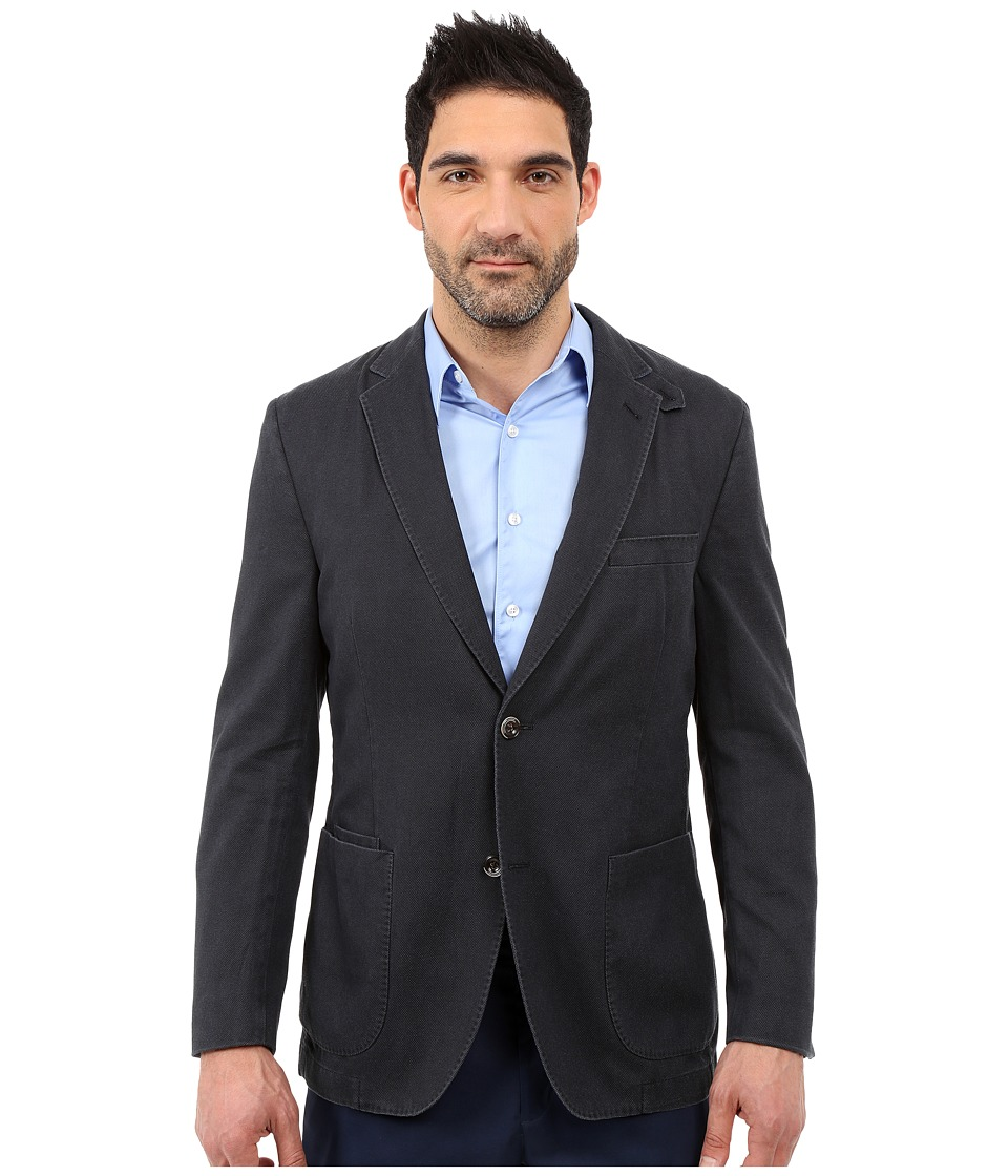 Kroon - The Edge Two-Button Coat (Navy) Men's Jacket