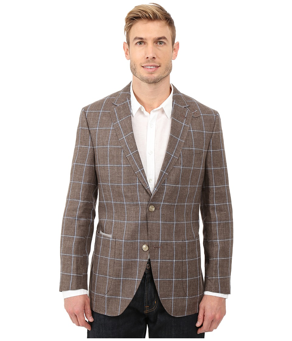 Kroon - The Edge Two-Button Coat (Taupe) Men's Jacket