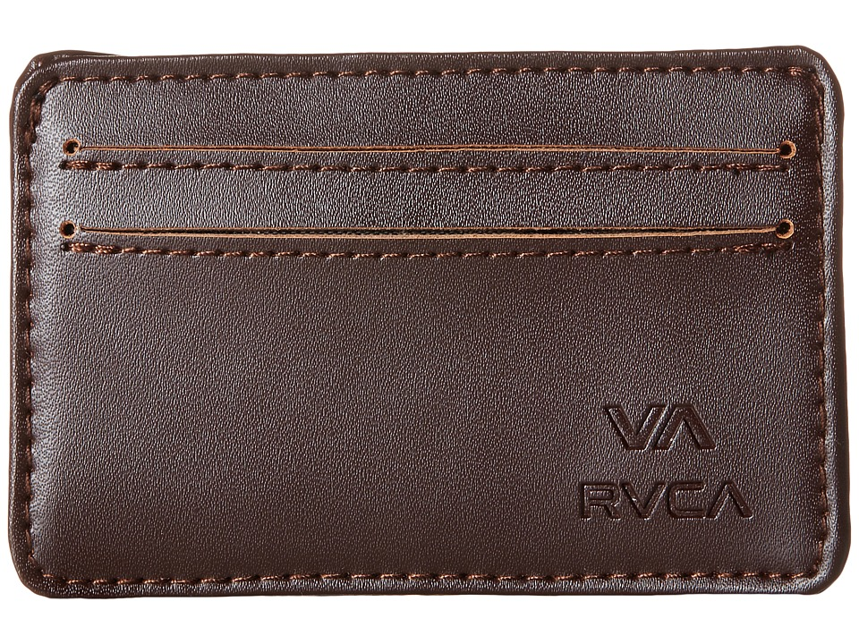 RVCA - Card Wallet (Brown) Wallet Handbags