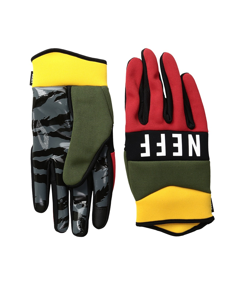 Neff - Ripper Glove (Rasta) Extreme Cold Weather Gloves