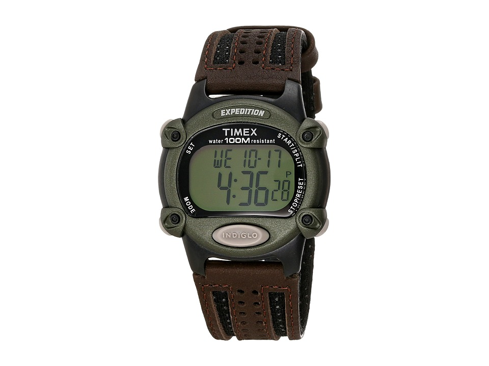 Timex - Expedition Chrono Alarm Timer Full (Brown) Chronograph Watches