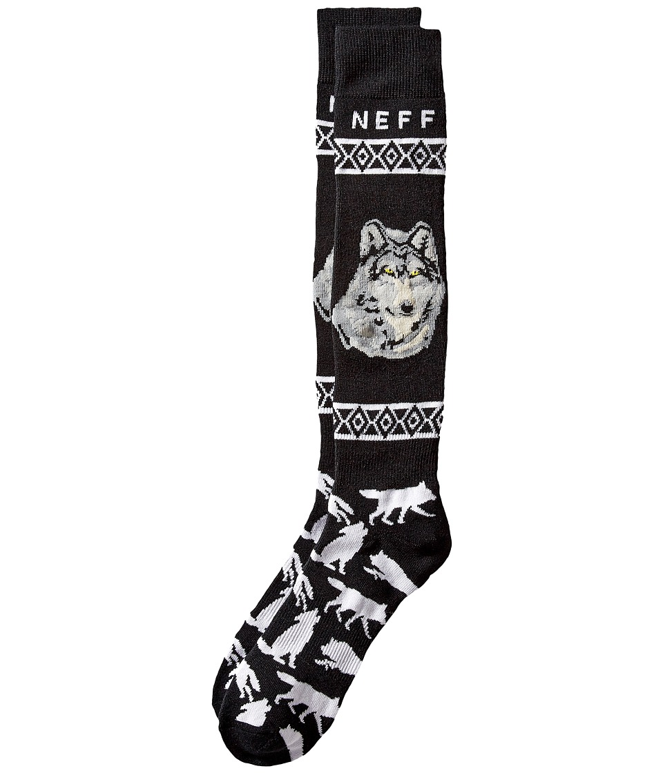 Neff - Wolf Snow Sock (Black) Men's Knee High Socks Shoes