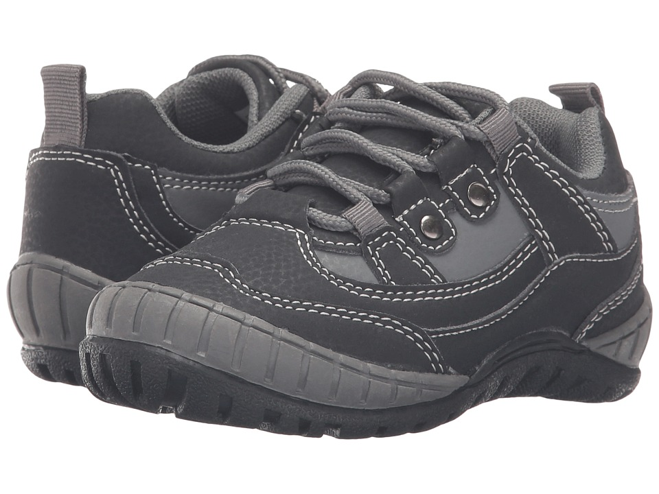 Jumping Jacks Kids - Trail Breaker (Toddler/Little Kid) (Black Suede) Boys Shoes