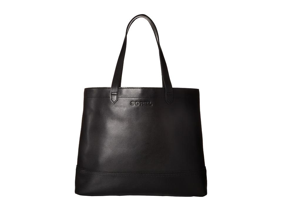 SOREL - Leather Tote (Black) Tote Handbags