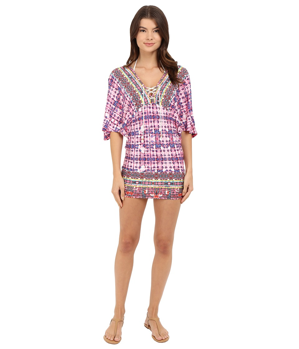 Nanette Lepore - Sunset Shibori Tunic Cover-Up (Multi) Women's Swimwear