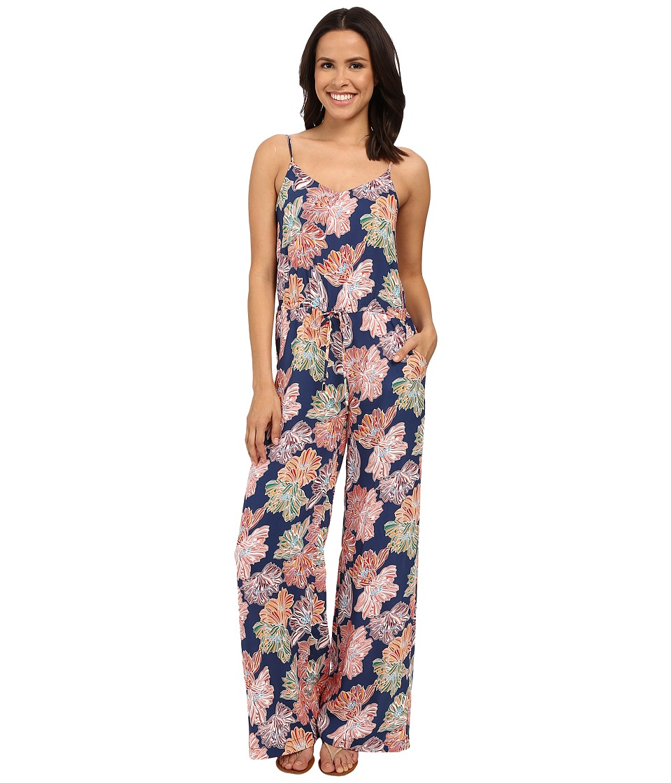Michael Stars - Celeste Print Wide Leg Jumpsuit (Nocturnal) Women's Jumpsuit & Rompers One Piece