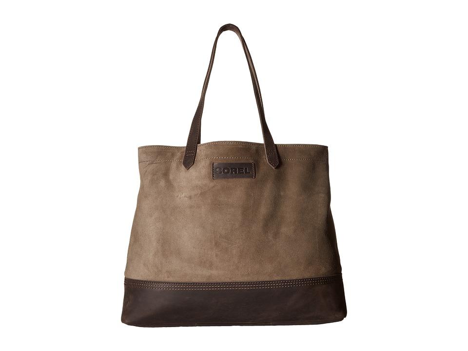 SOREL - Suede Tote (Mud) Tote Handbags