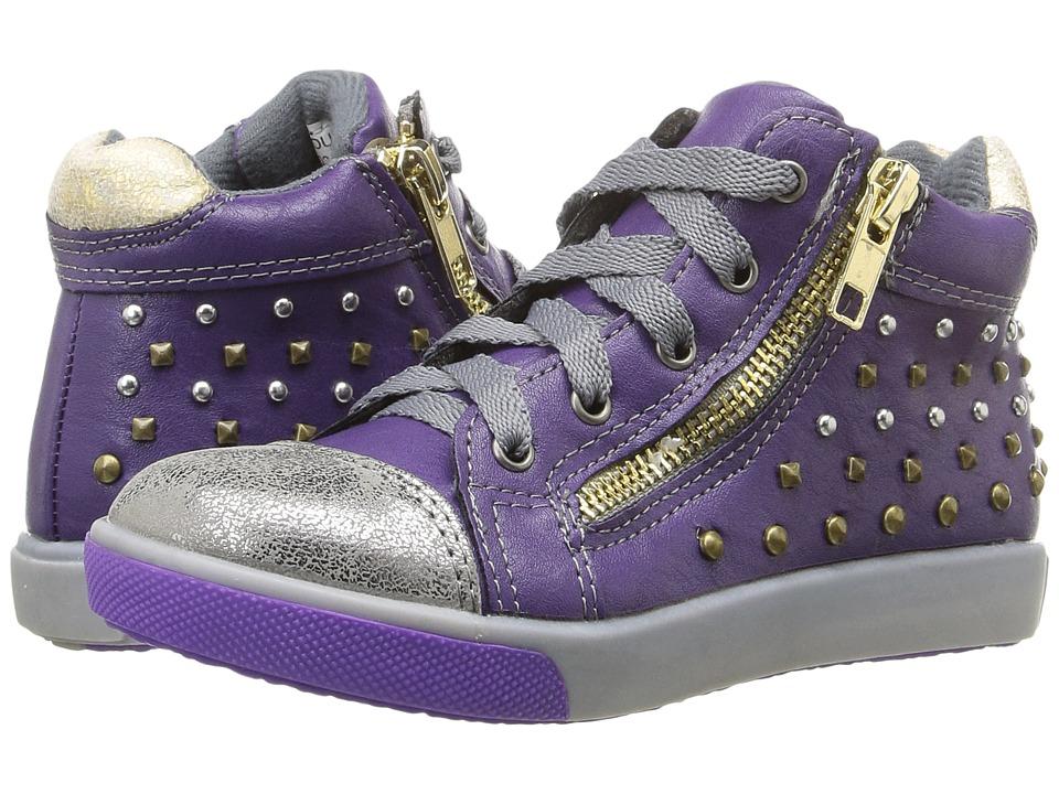 Jumping Jacks Kids - Courtney Balleto (Toddler/Little Kid) (Dark Purple/Pewter) Girls Shoes