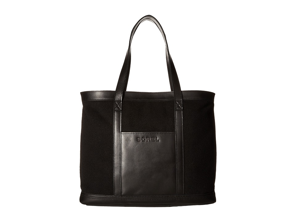 SOREL - Working Wool Tote (Black) Tote Handbags