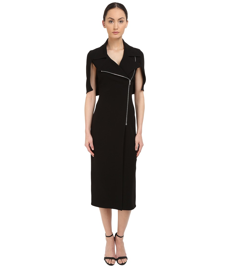 YIGAL AZROUEL Moto Zip Dress (Black) Women