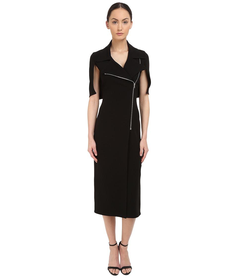 YIGAL AZROUEL Moto Zip Dress (Black) Women