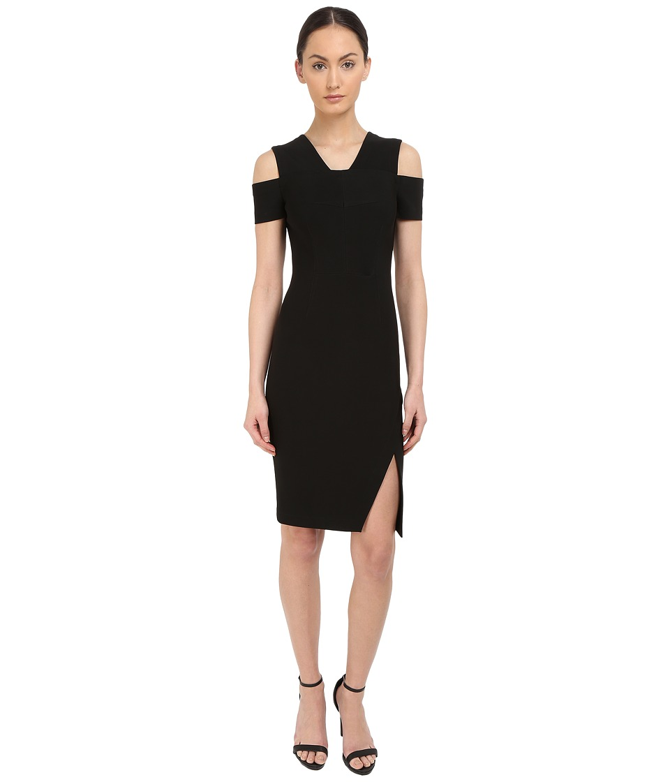 YIGAL AZROUEL Cold Shoulder Mini Stretch Dress (Black) Women