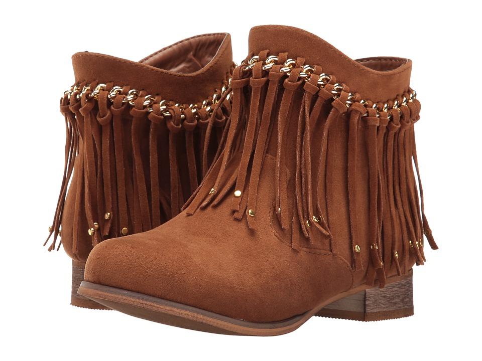 Jumping Jacks Kids - Balleto - Sierra (Toddler/Little Kid) (Saddle Tan Microsuede) Girls Shoes