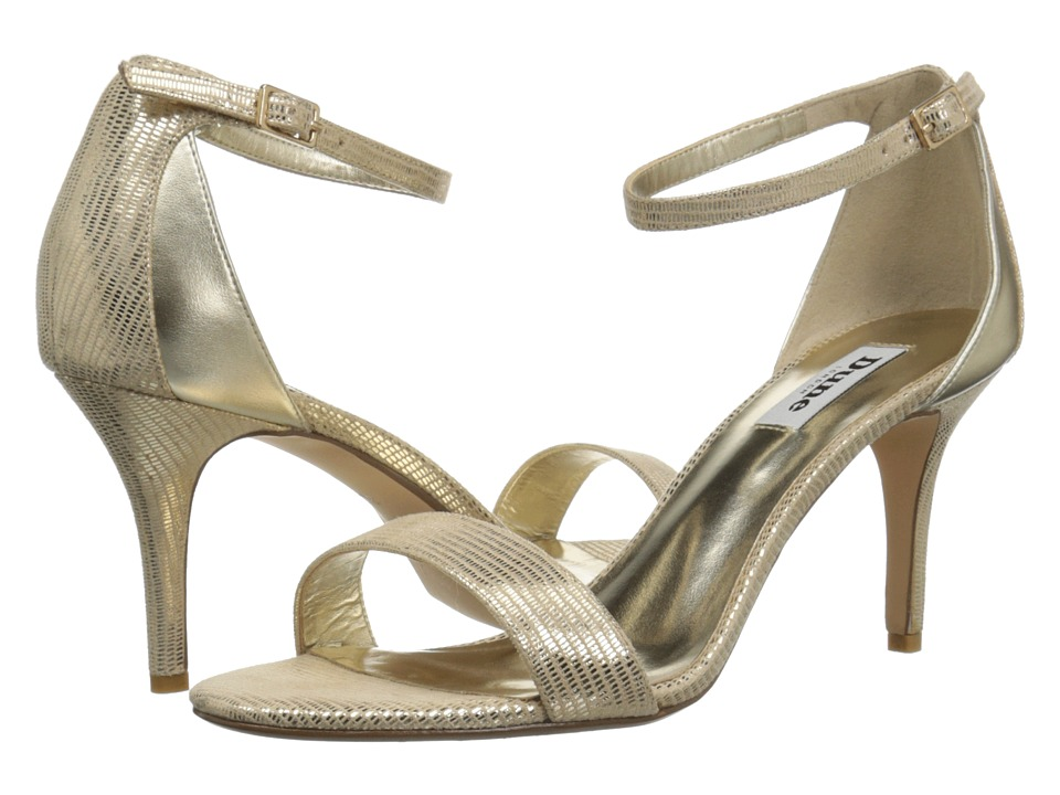 Dune London - Mariee (Gold Reptile) Women's Shoes