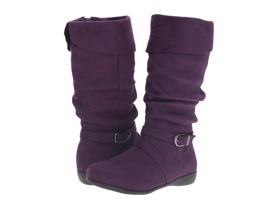 Jumping Jacks Kids - Balleto - Bethany (Toddler/Little Kid/Big Kid) (Eggplant Microsuede) Girls Shoes