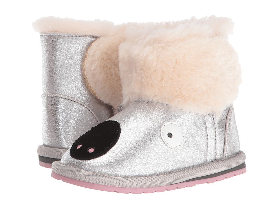 EMU Australia Kids - Koala Glitter Walker (Infant) (Silver) Girls Shoes