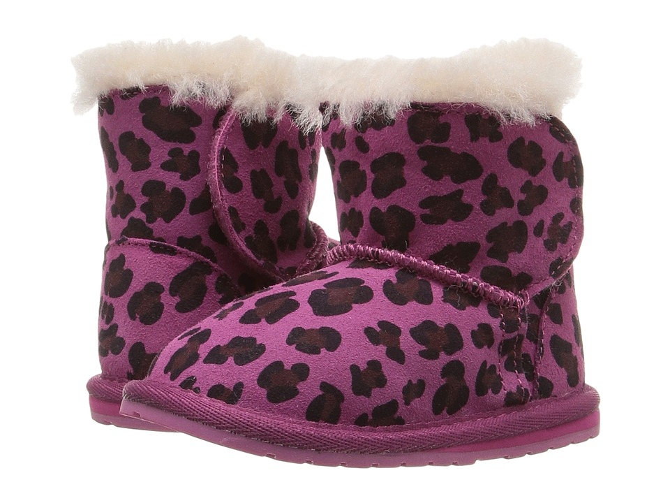 EMU Australia Kids - Toddle Leopard (Infant) (Hot Pink) Girls Shoes