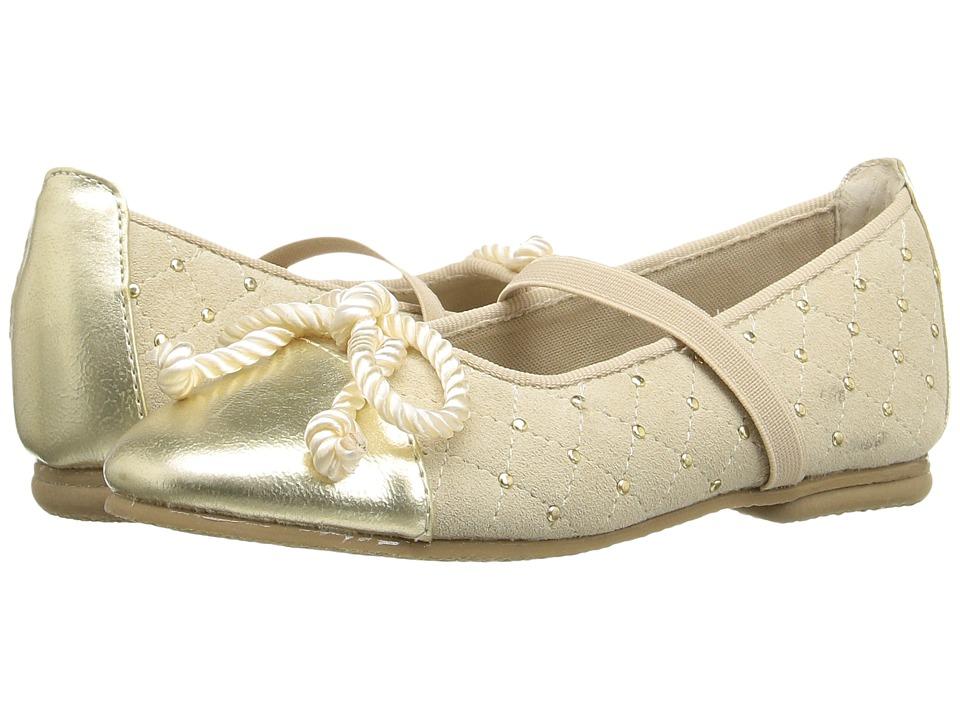 Jumping Jacks Kids - Balleto - Katrina (Toddler/Little Kid/Big Kid) (Gold Suede/Krinkle) Girls Shoes