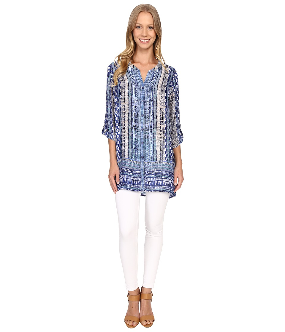 NIC+ZOE - Deep Blue Tunic (Multi) Women's Clothing
