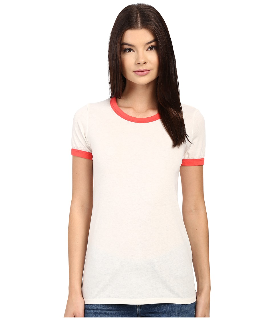 Obey Sold Out Ringer Tee (Creme/Poppy) Women