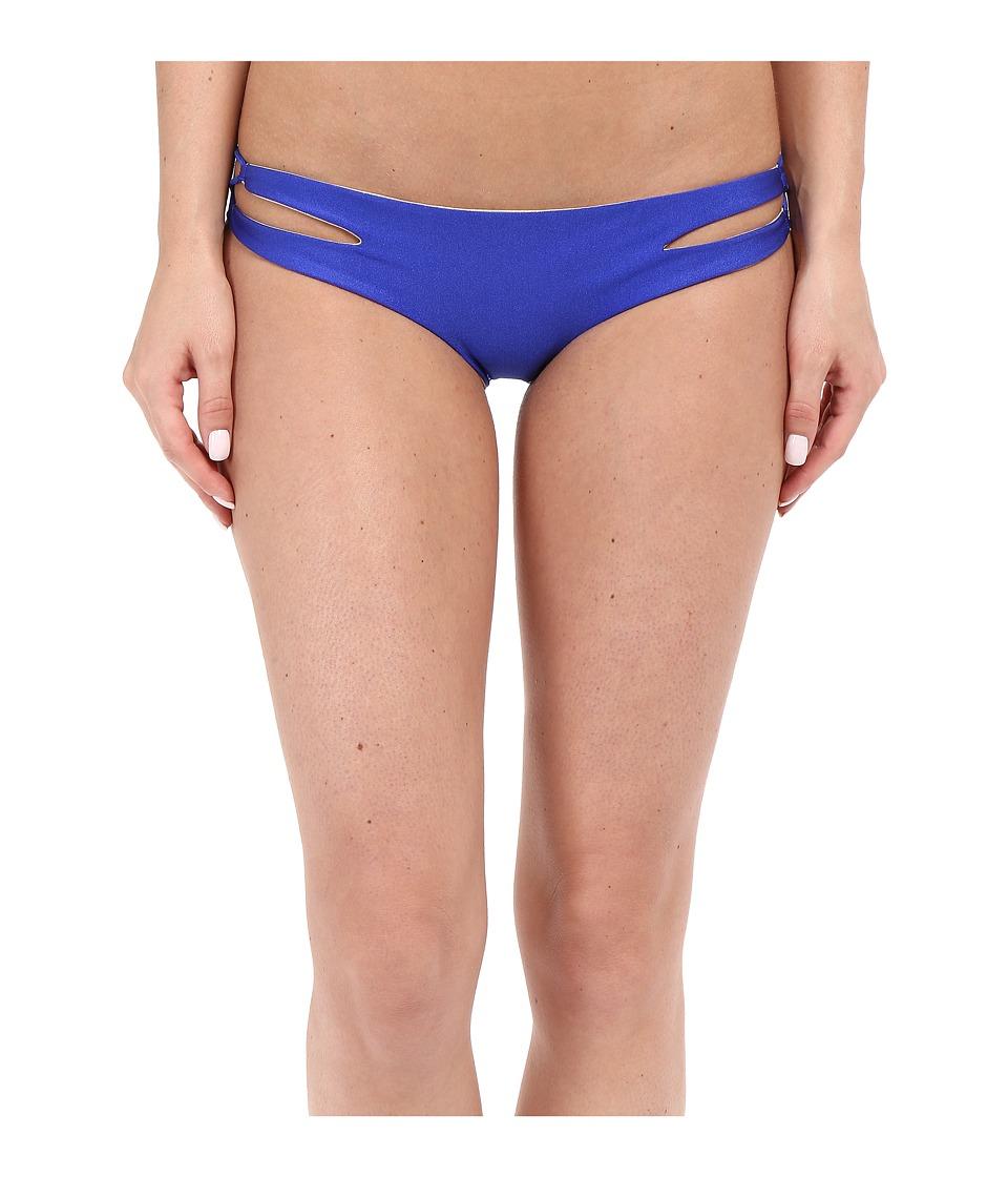 Luli Fama - Cosita Buena Reversible Zigzag Open Side Moderate Bottom (Electric Blue) Women's Swimwear